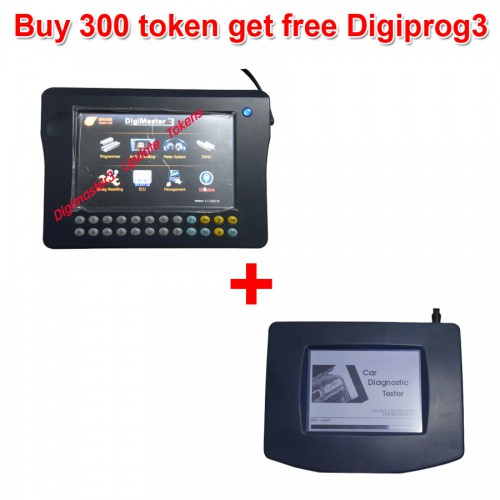 300 Tokens for Digimaster 3/CKM100/CKM200 Get  Digiprog 3 Main unit and OBD Cable