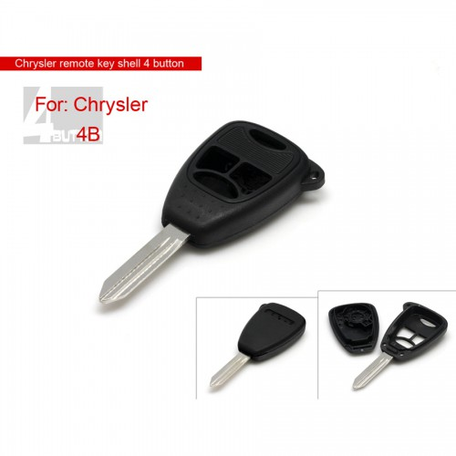 Remote Key Shell 3+1 Button for Chrysler  Free Shipping 5pcs/lot