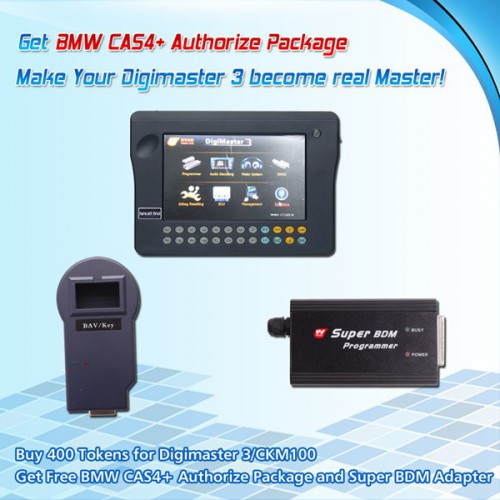 Buy 300 Tokens for Digimaster3/CKM100 Get BMW CAS4+ Authorize Package and Super BDM Programmer for Free
