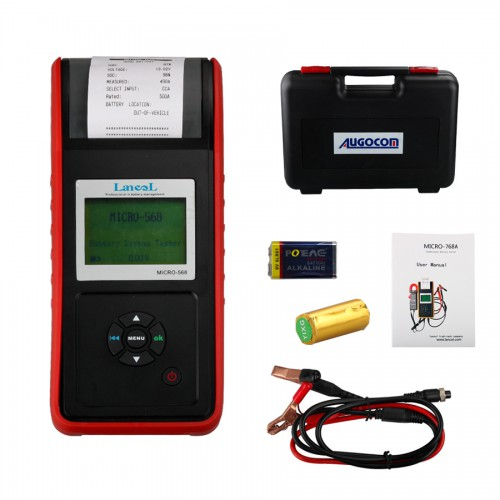 MICRO-568 Battery Tester Battery Conductance & Electrical System Analyzer With Printer (One Year Warranty)