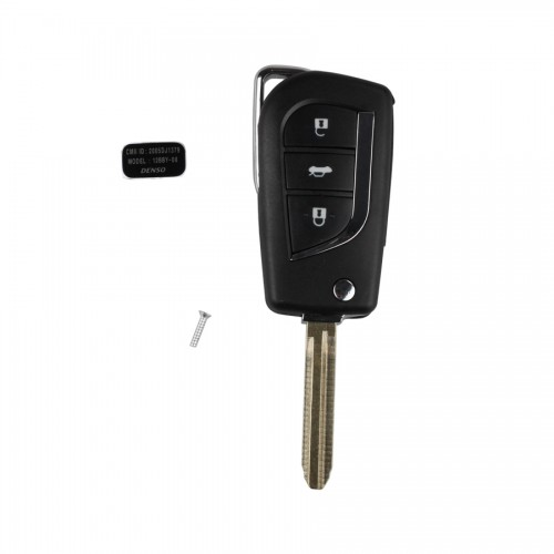 Remote Key Shell 3 Button  for Toyota Modified Flip 5 pcs/ lot