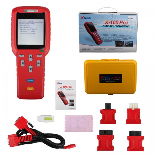 X100 PRO Auto Key Programmer X100+ Updated Version with EEPROM Adapter
