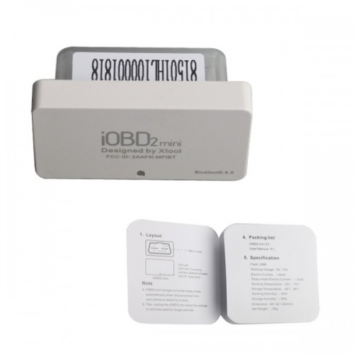 XTOOL iOBD2 Mini OBD2 EOBD Scanner Support Bluetooth 4.0 for iOS and Android