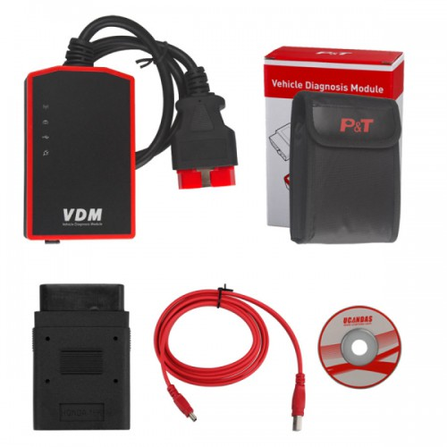 V3.84 VDM UCANDAS Wireless Automotive Diagnosis System Deutsche Version with Honda Adapter Support Andriod V4.0