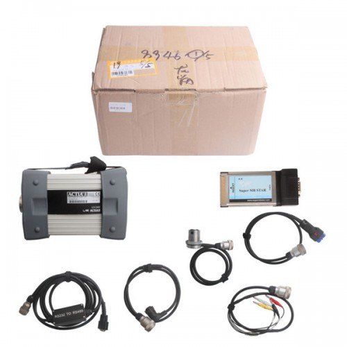 Super MB Star Diagnostic Tool for Benz Trucks and Cars With 2018.9 Software HDD Update Online