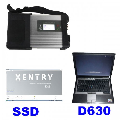 V2020.9 MB SD C5 Star Diagnosis with 256GB SSD Plus DELL D630 Second Hand Laptop with 4GB RAM Insatalled Ready Directly Use