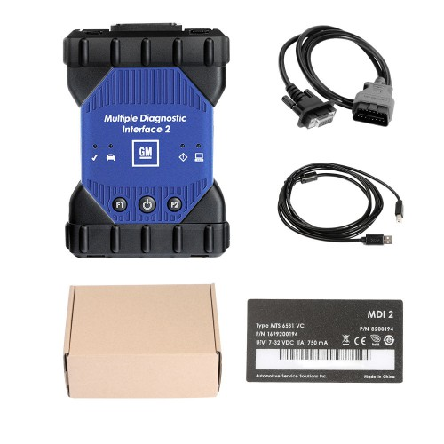 (Ship from UK)Newest High Quality GM MDI 2 Multiple Diagnostic Interface with Wifi Card Multi-Language