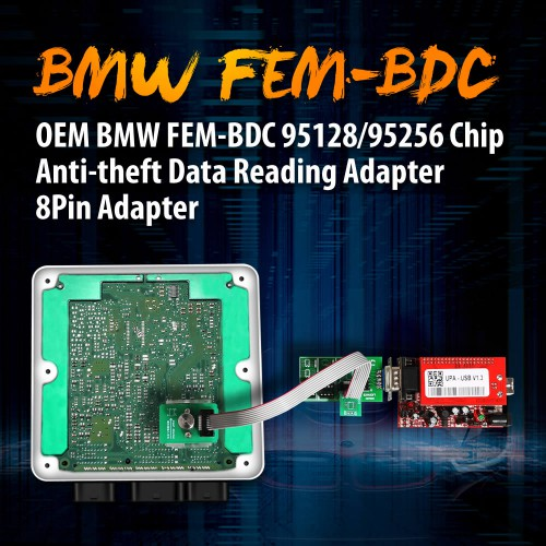 (Ship from UK)OEM 8Pin Adapter Anti-theft Data Reading Adapter for BMW FEM-BDC 95128/95256