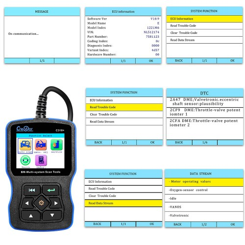 [ Ship from UK] Creator C310+  for BMW Multi System Scan Tool V8.0