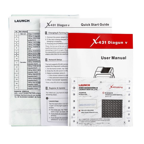 LAUNCH X-431 Diagun V Powerful Diagnotist Tool  FULL Version 2 Years Free Update