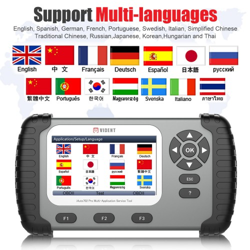 (Ship from UK)VIDENT iAuto 702 Pro Multi-applicaton Service Scanner Support ABS/SRS/EPB/DPF With 19 Maintenances 3 Years Free Update Online