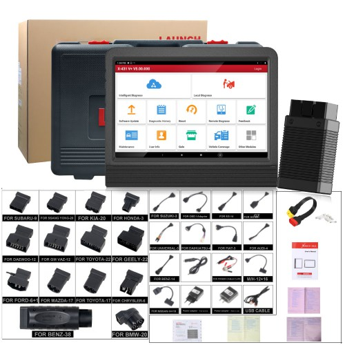 (Ship from UK No Tax)Launch X431 V+ Bluetooth Global Version Full System Scanner 2 Years Free Update Online