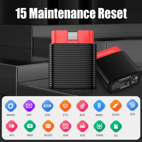 2020 Original THINKCAR 2 Bluetooth Full System OBD Diagnostic Car Scanner 15 Reset Service Free for DIY Users