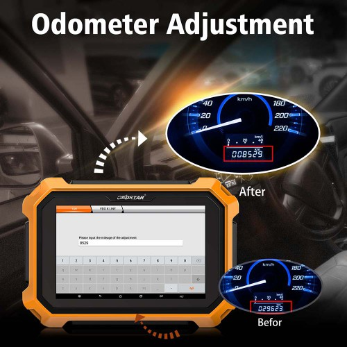 "OBDSTAR X300 DP Plus 8"" Tablet Key Programmer Full Version Supports ECU Programming & Toyota Smart Get Free OBDSTAR Converter"