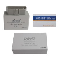 2015 Newest iOBD2 Bluetooth Diagnostic Tool for iPhone/iPad with Multi-language for BMW