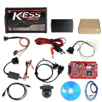 (Ship from UK)Special Price V5.017 SW V2.47 Online Version Red PCB No Tokens Limitation Kess V2 OBD2 Manager Tuning Kit Auto Truck ECU Programmer