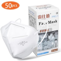 KN95 Masks Paper Protection Mouth Mask Sealed Bag Protective Face Mask Dust Filter Mouth CE+FDA Cover 50 pcs