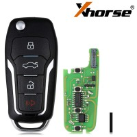 (Ship from UK)XHORSE XEFO01EN Super Remote Key Ford Style Flip 4 Buttons Built-in Super Chip English Version 5pcs/lot
