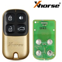 XHORSE XKXH02EN Universal Remote Key 4 Buttons for VVDI Key Tool Golden Style English Version 5pcs/lot