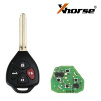 XHORSE XKTO02EN Wired Universal Remote Key Toyota Style Flat 4 Buttons for VVDI VVDI2 Key Tool English Version 5 pcs/lot