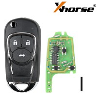 XHORSE XKBU03EN Wired Universal Remote Key Flip 3 Buttons Buick Style for VVDI VVDI2 Key Tool English Version 5pcs/lot