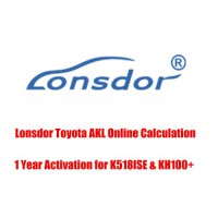 Lonsdor Toyota AKL Online Calculation 1 Year Activation for K518ISE & KH100+