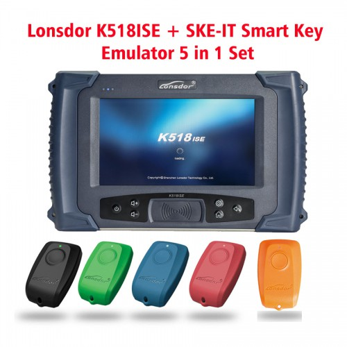 Lonsdor K518ISE Key Programmer Plus SKE-LT Smart Key Emulator Get a Free Orange SKE-LT-DSTAES Chip 39 (128bit)