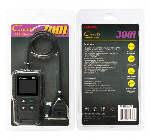 [Ship from UK] Original Launch Creader 3001 OBDII / EOBD Code Reader Scanner Multilingual Same as Al419